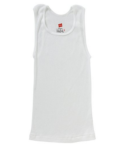 Hanes Boys' TAGLESS® ComfortSoft® Cotton A-Shirt 3-Pack youth Hanes