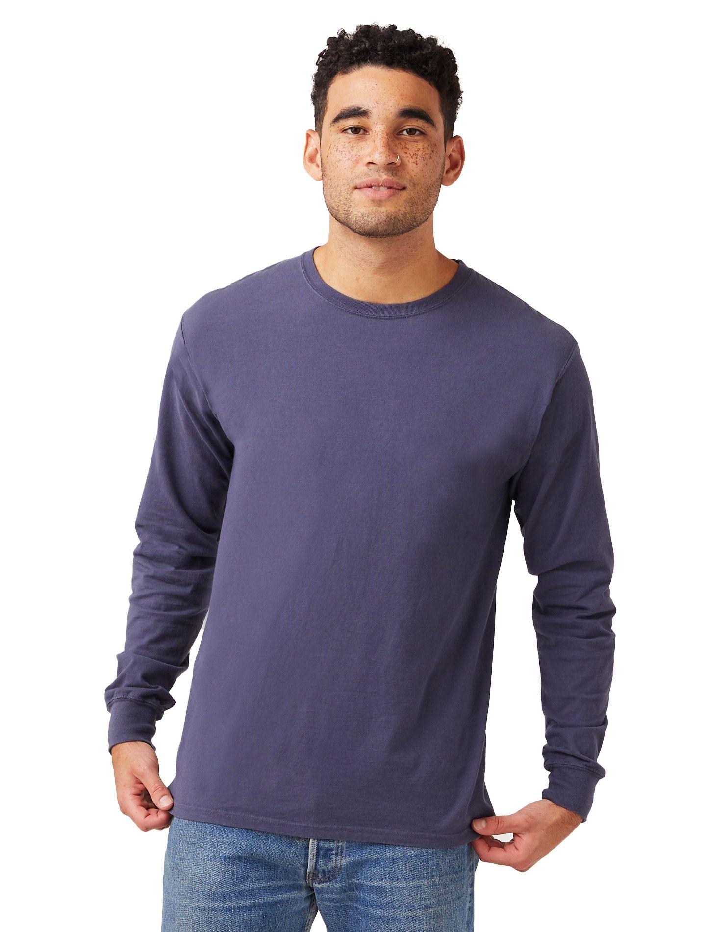 Hanes Men's ComfortWash™ Garment Dyed Long Sleeve Tee men Hanes