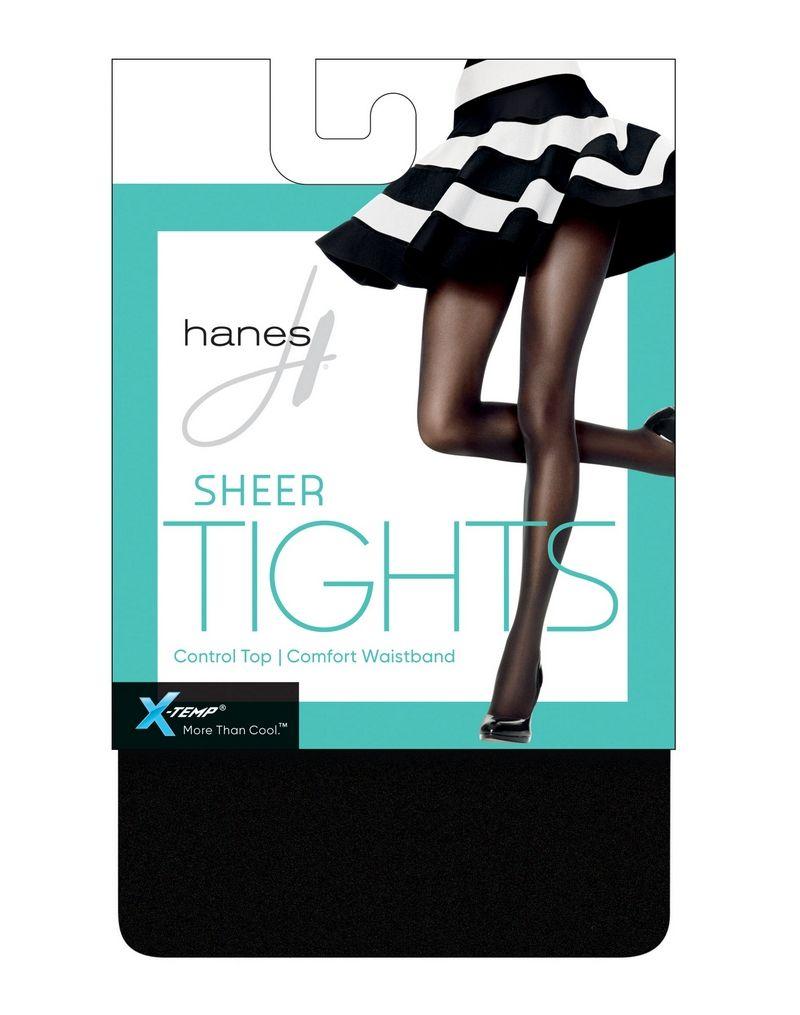 Hanes X-Temp Sheer Control Top Tights with Comfort Waistband women Hanes