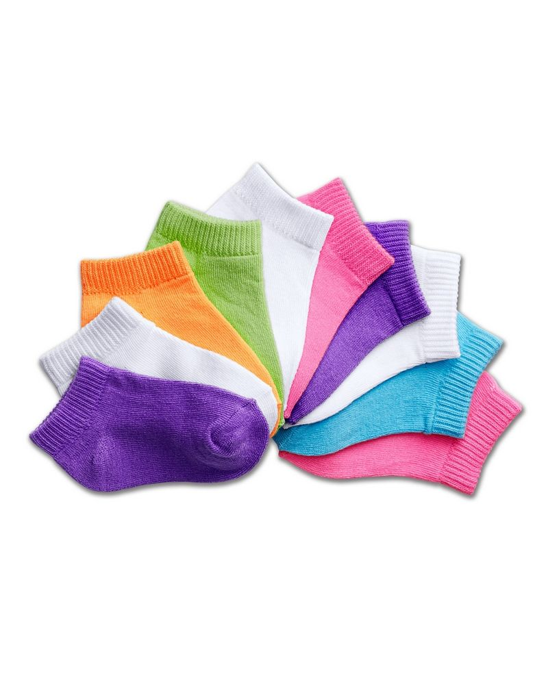 Hanes Girls' Infant/Toddler Low-Cut EZ Sort® Assorted 10-Pack youth Hanes