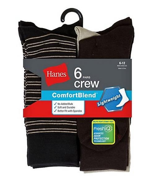 Hanes Men's Comfortblend Lightweight Casual Dress Socks P6 men Hanes
