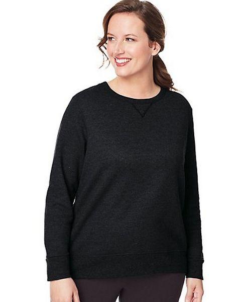 Just My Size ComfortSoft® EcoSmart® V-Notch Crewneck Women's Sweatshirt women Just My Size