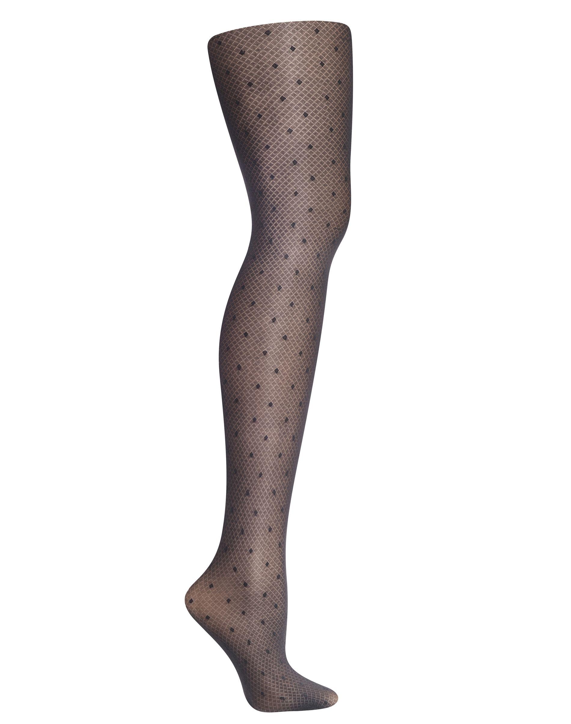 hanes diamond dot control top fashion tights women Hanes