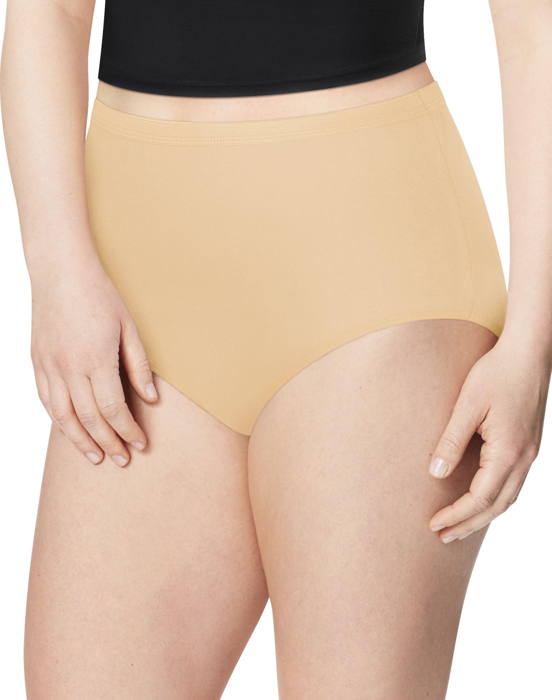 jms cotton body tone briefs, 6-pack women Just My Size