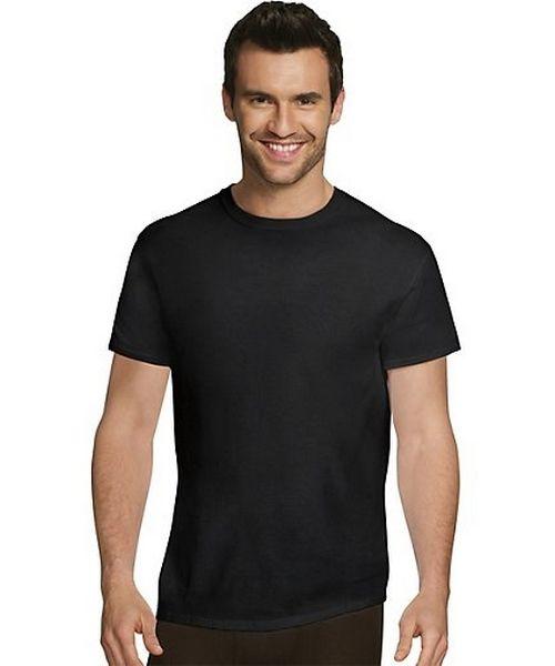 Hanes Ultimate™ Men's Comfort Fit Ultra Soft Cotton/Modal Crew Neck Undershirt Assorted Black/Grey 4-Pack men Hanes