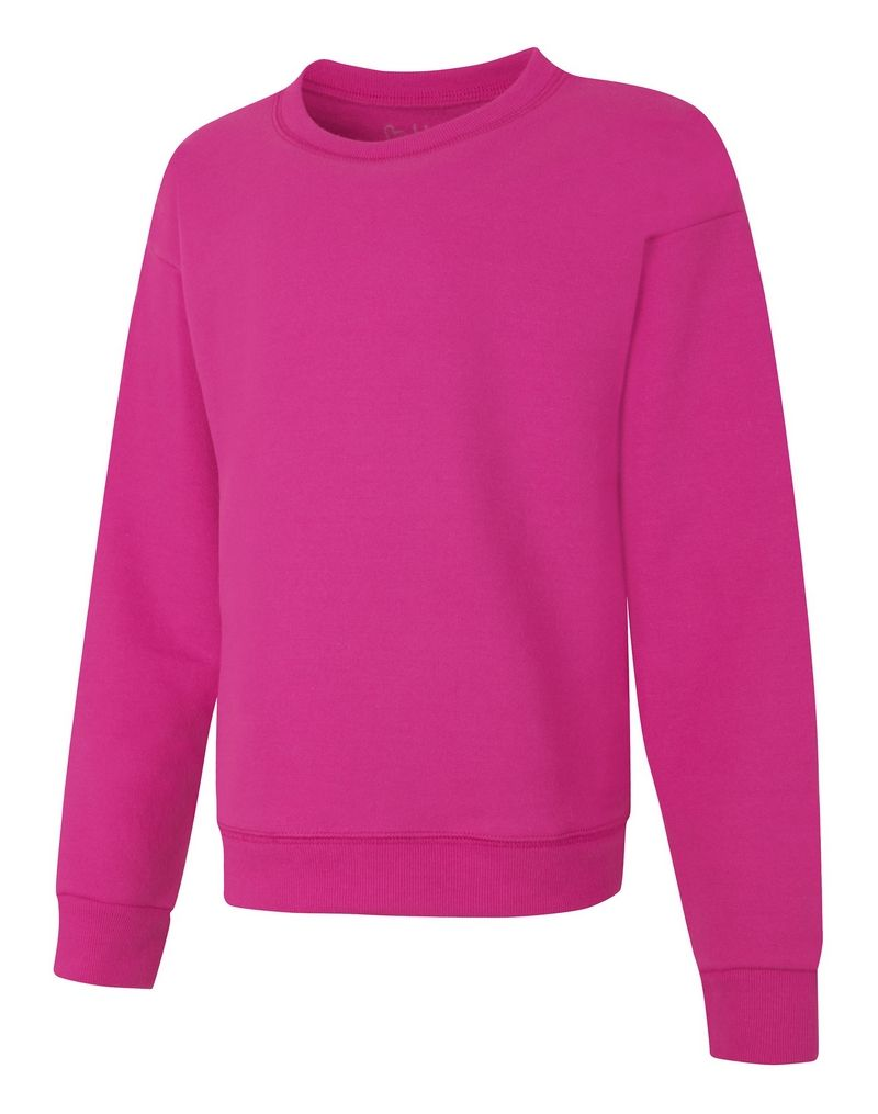 Hanes ComfortSoft™ EcoSmart Girls' Crewneck Sweatshirt youth Hanes