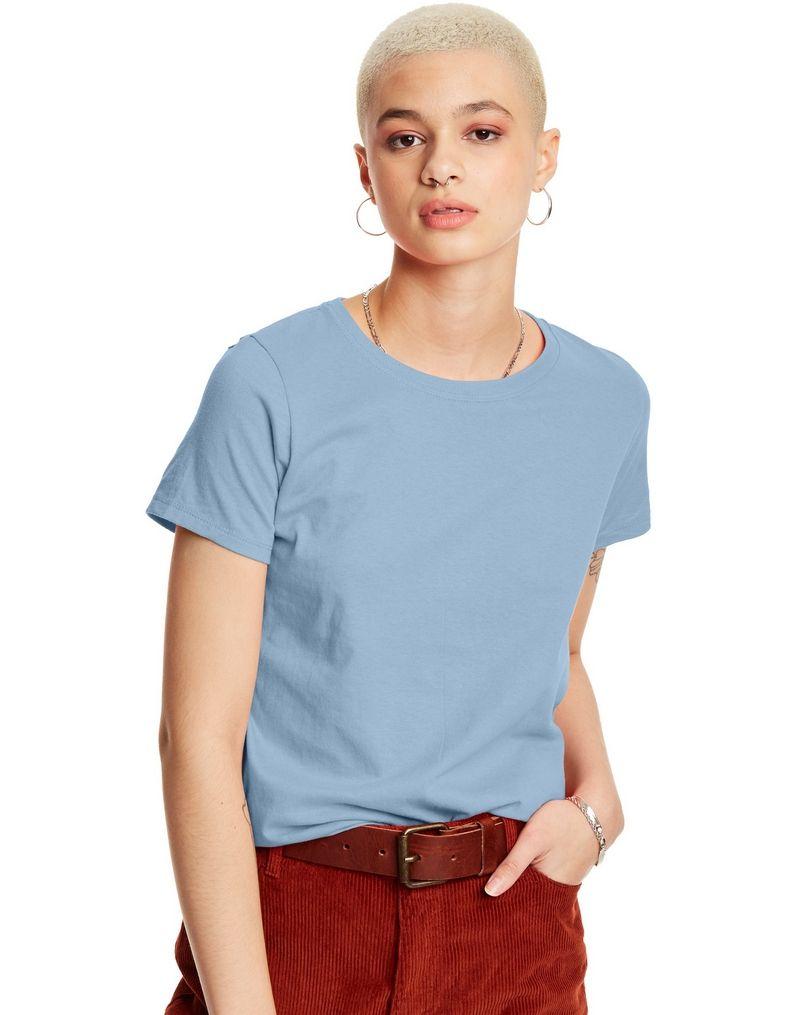 Hanes Women's Relaxed Fit Jersey ComfortSoft® Crewneck T-Shirt women Hanes