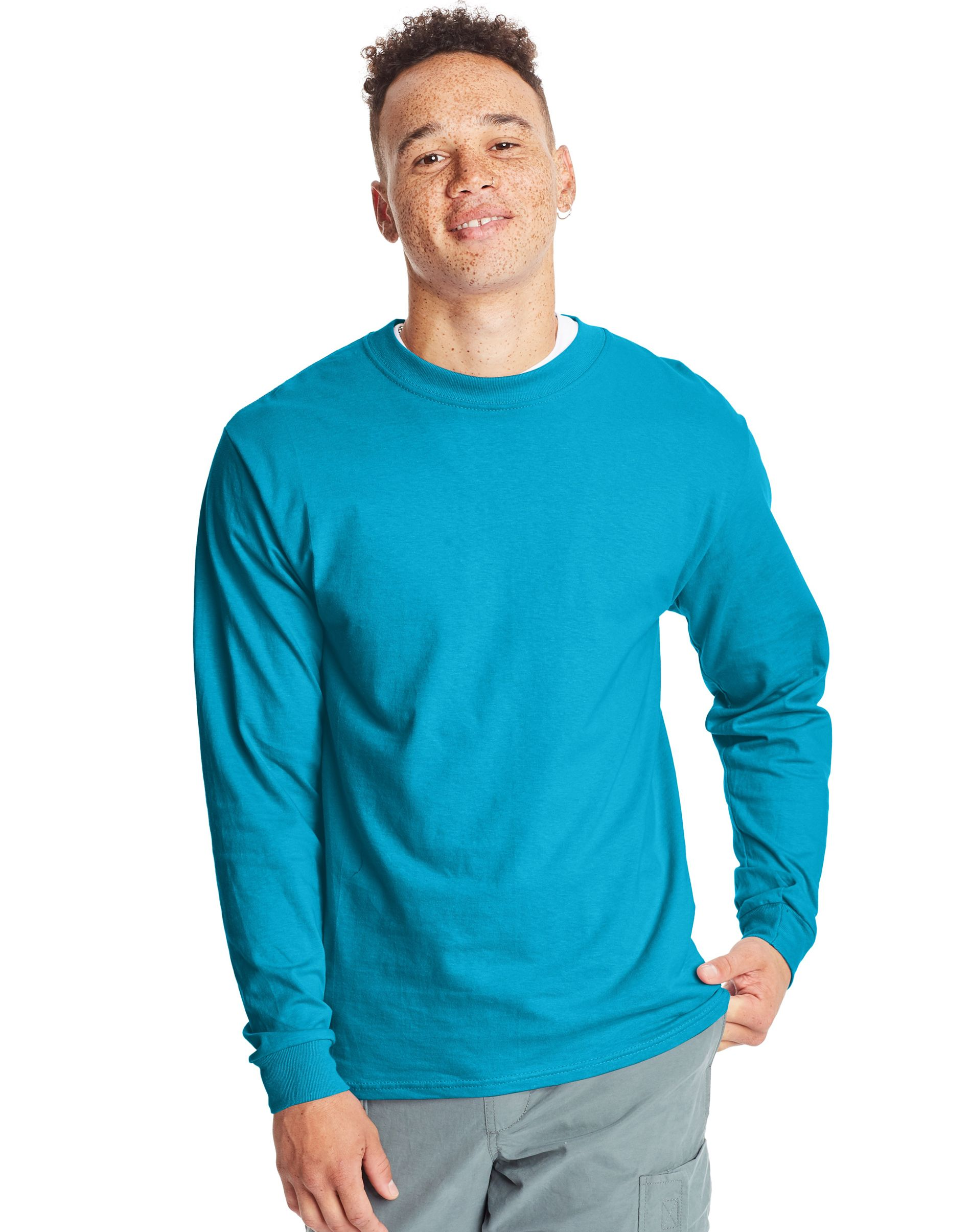 Hanes Adult Beefy-T Long-Sleeve T-Shirt men Hanes