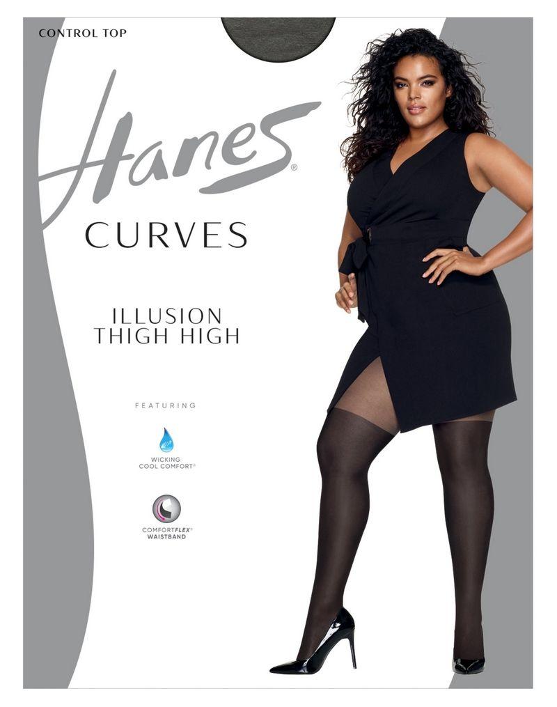Hanes Curves Illusion Thigh Highs women Hanes