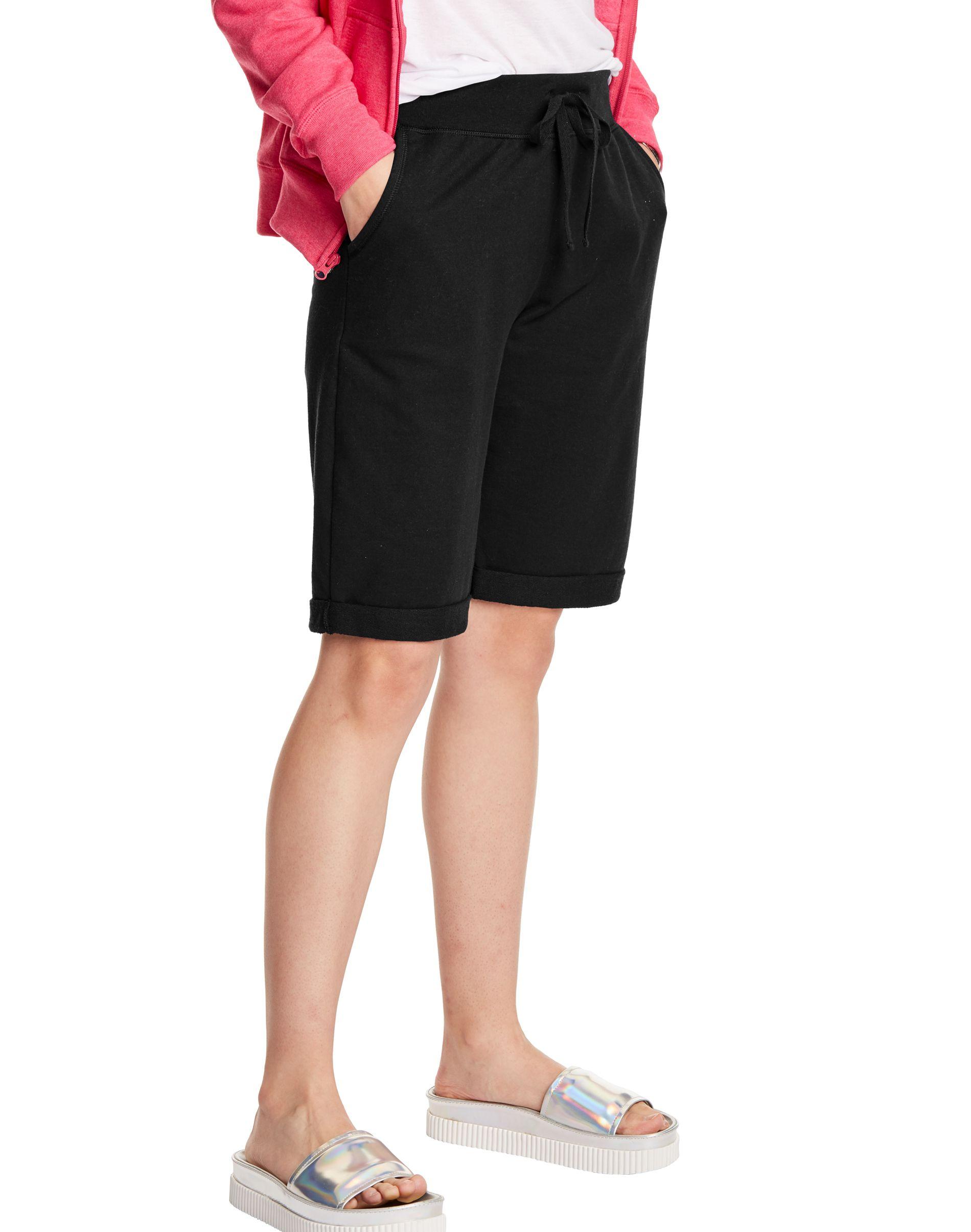 Hanes Women's French Terry Bermuda Pocket Short women Hanes