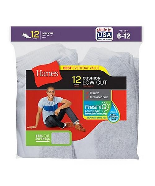 Hanes Men's Low Cut Socks 12-Pack men Hanes