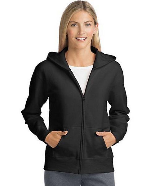 Hanes ComfortSoft™ EcoSmart® Women's Full-Zip Hoodie Sweatshirt women Hanes