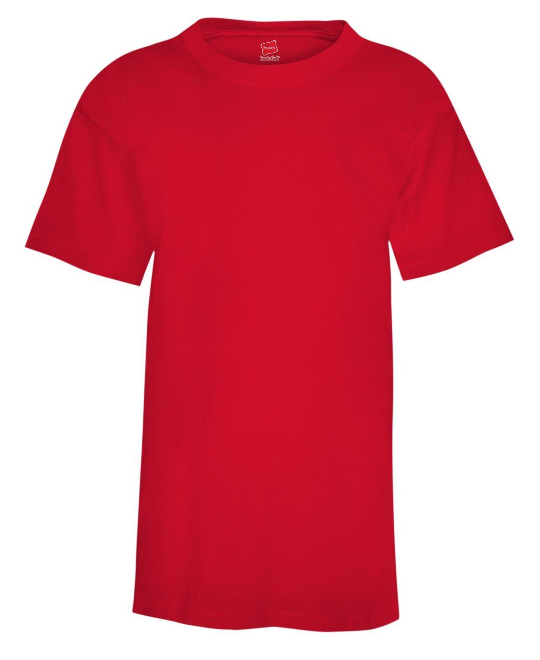 Hanes Boys' TAGLESS® ComfortSoft® Crewneck T-Shirt youth Hanes