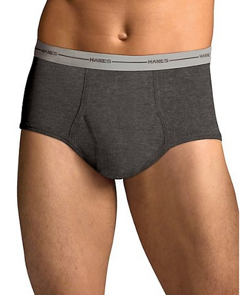 Hanes Men's TAGLESS® ComfortSoft® Full Rise Dyed Brief with Comfort Flex® Waistband 6-Pack men Hanes