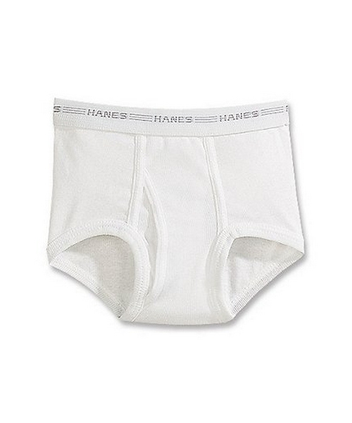 Hanes Boys' White Briefs Value 6-Pack youth Hanes