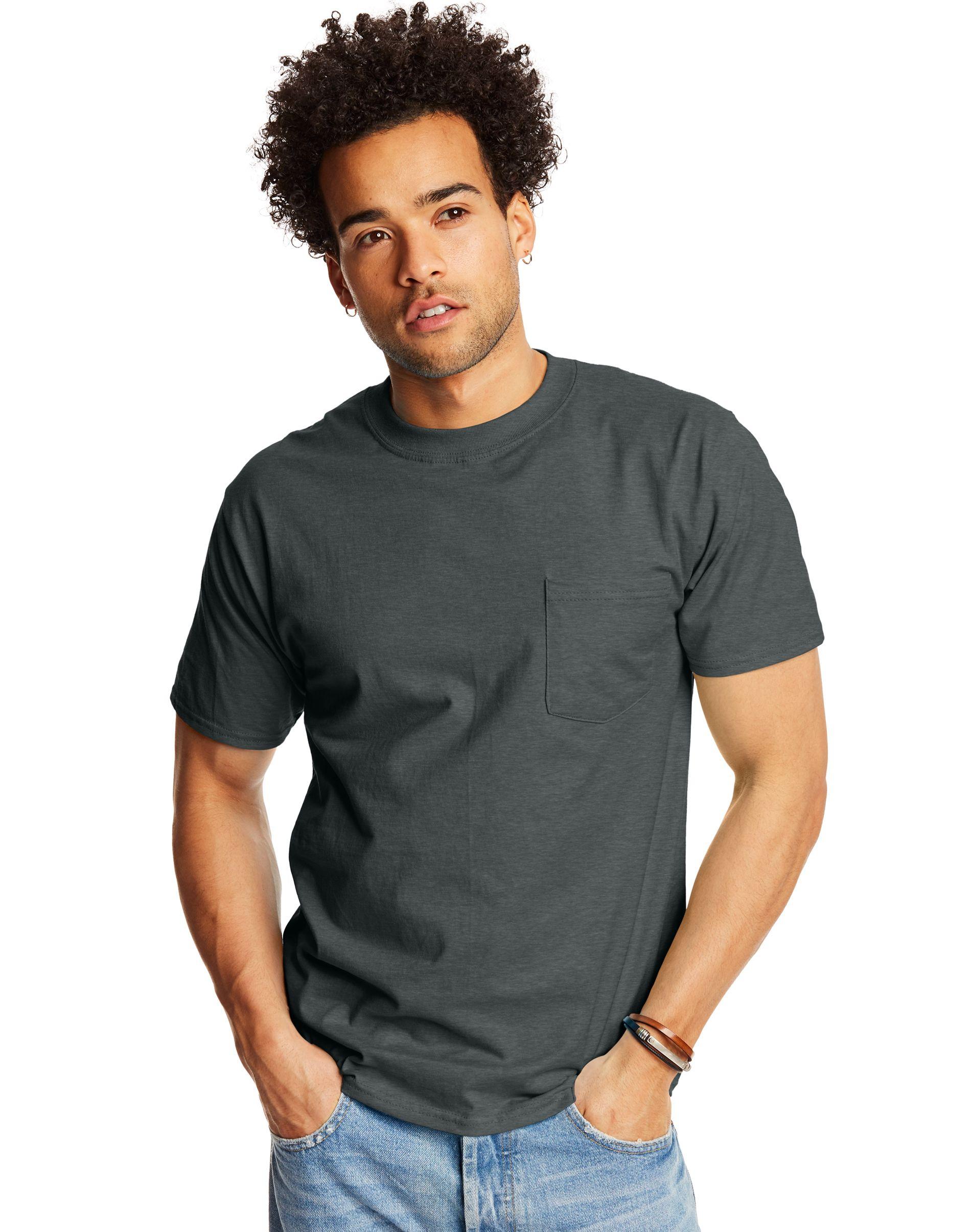 Hanes Beefy-T Adult Pocket T-Shirt men Hanes