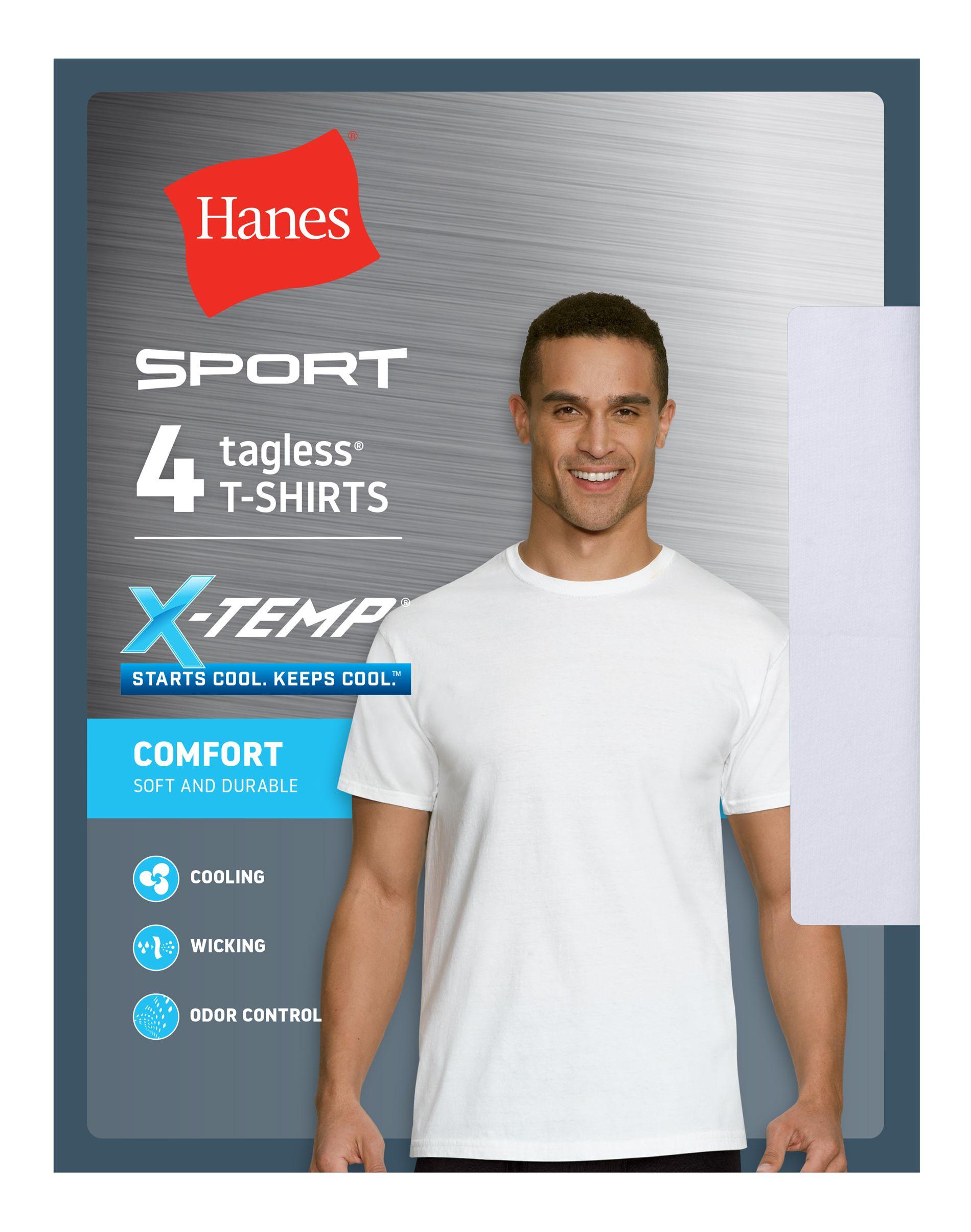 hanes ultimate sport x-temp white crew men Hanes