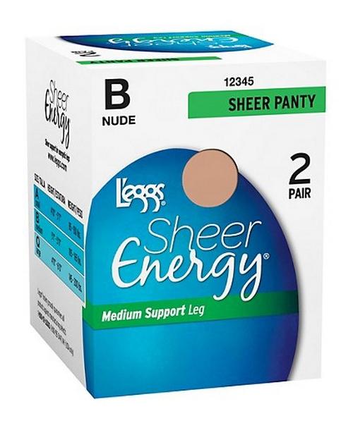 L'eggs Sheer Energy All Sheer 2 Pair women L'eggs