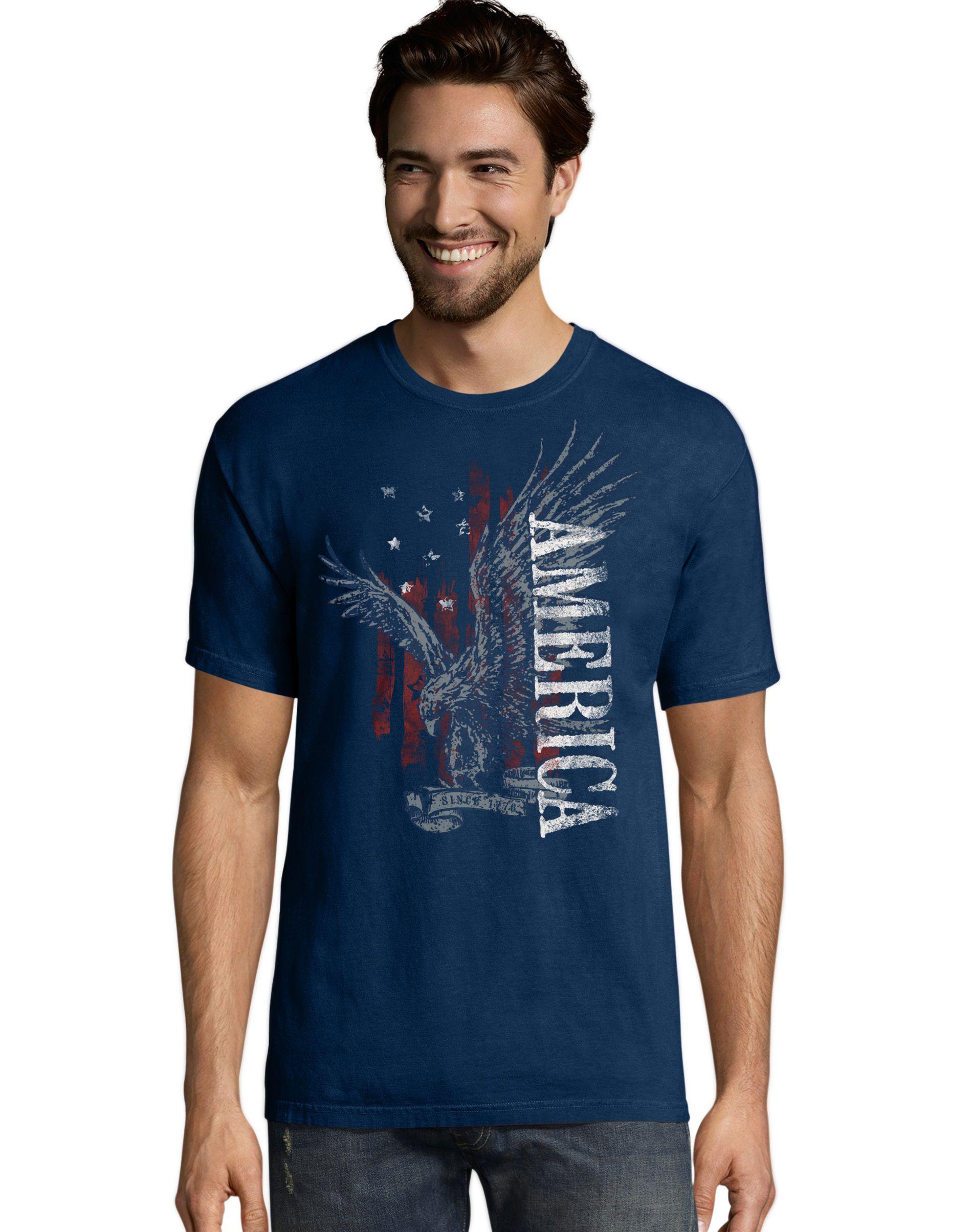 Men's Eagle America Graphic Tee men Hanes