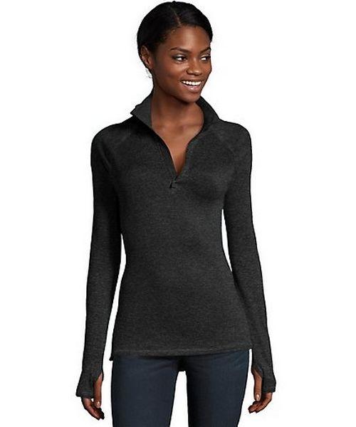 Hanes Sport™ Women's Performance Fleece Quarter Zip Sweatshirt women Hanes