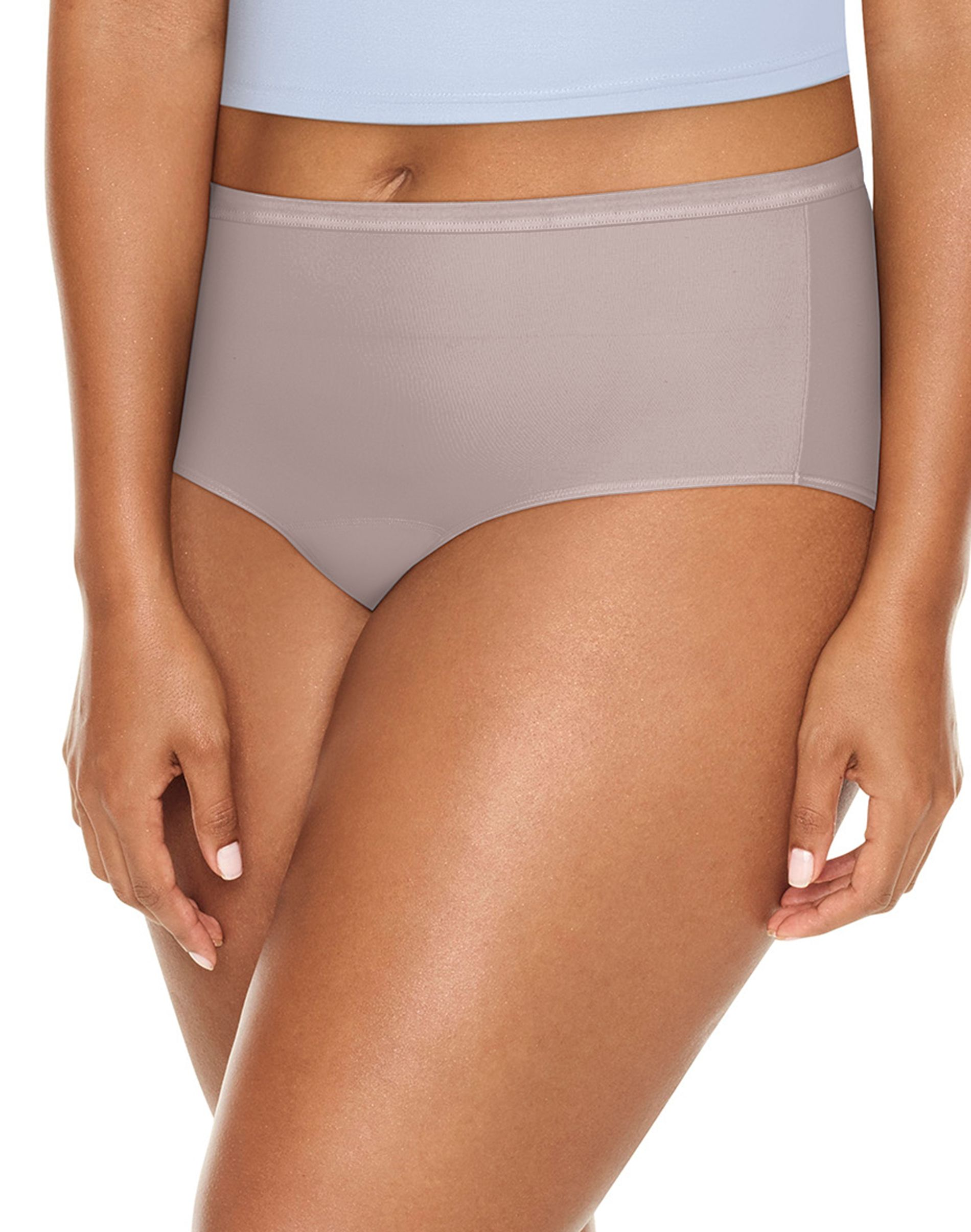 jms fresh & dry leak protection liner assorted brief 3-pack women Just My Size