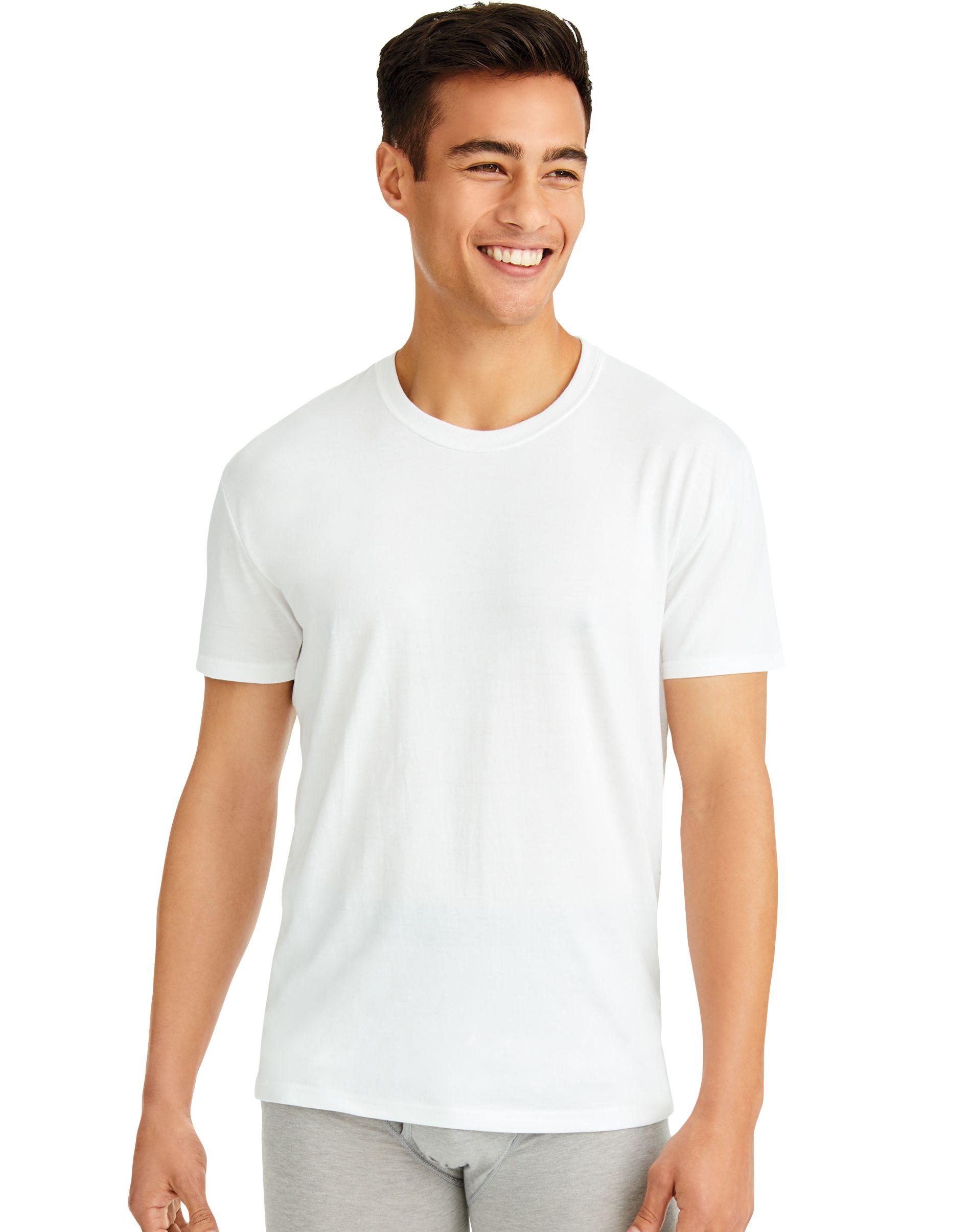 hanes ultimate comfortfit white crew men Hanes