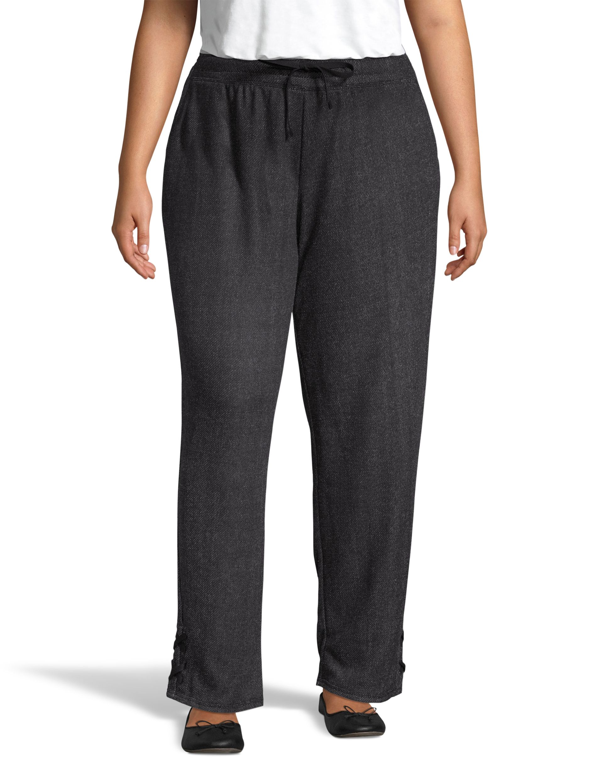 JMS French Terry Lace Up Pant women Just My Size