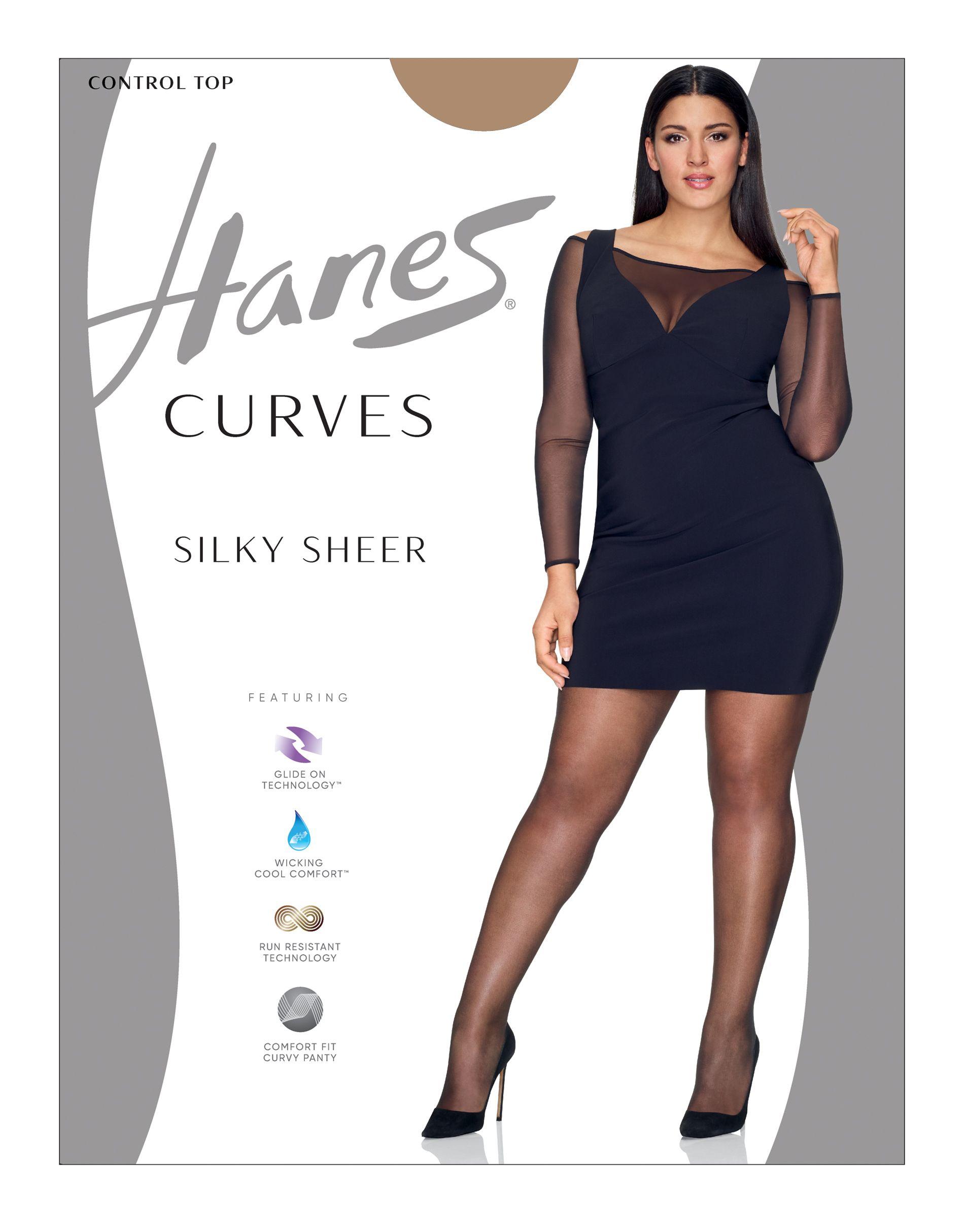 Hanes Curves Silky Sheer Control Top Legwear women Hanes