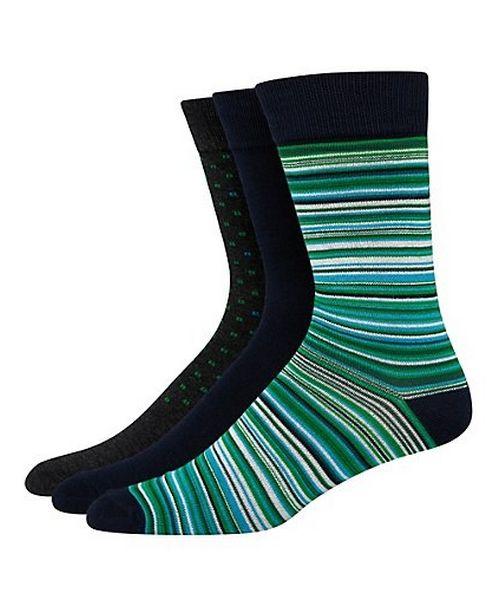 Hanes Ultimate™ Men's FreshIQ™ Men's Assorted Dress Socks 3-Pack men Hanes