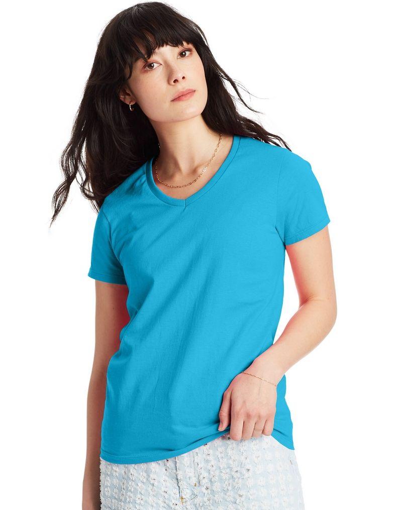 Hanes Relaxed Fit Women's ComfortSoft® V-neck T-Shirt women Hanes