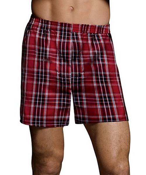 Hanes Classics Men's TAGLESS® Tartan Boxers with Comfort Flex® Waistband 2X-4X 2-Pack men Hanes