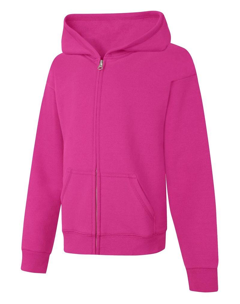 Hanes ComfortSoft™ EcoSmart® Girls' Full-Zip Hoodie Sweatshirt youth Hanes