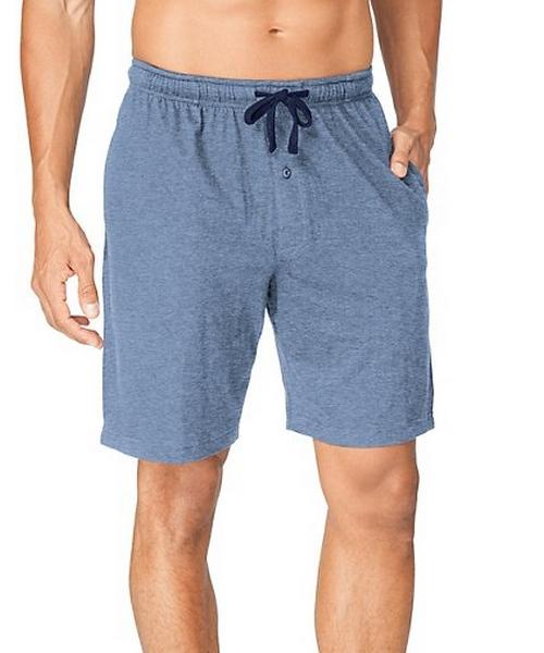 Hanes Men's Jersey Lounge Drawstring Shorts with Logo Waistband 2-Pack men Hanes