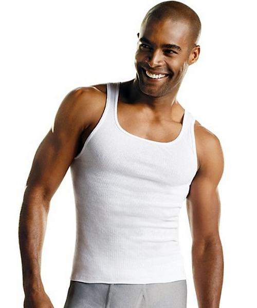 Hanes Men's White A-Shirt 3-Pack 372