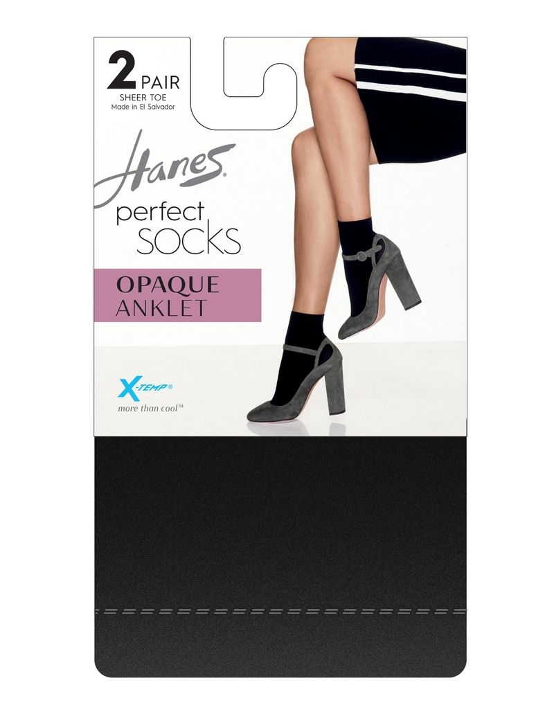 Hanes Perfect Socks Opaque Anklet P2 ST women Hanes