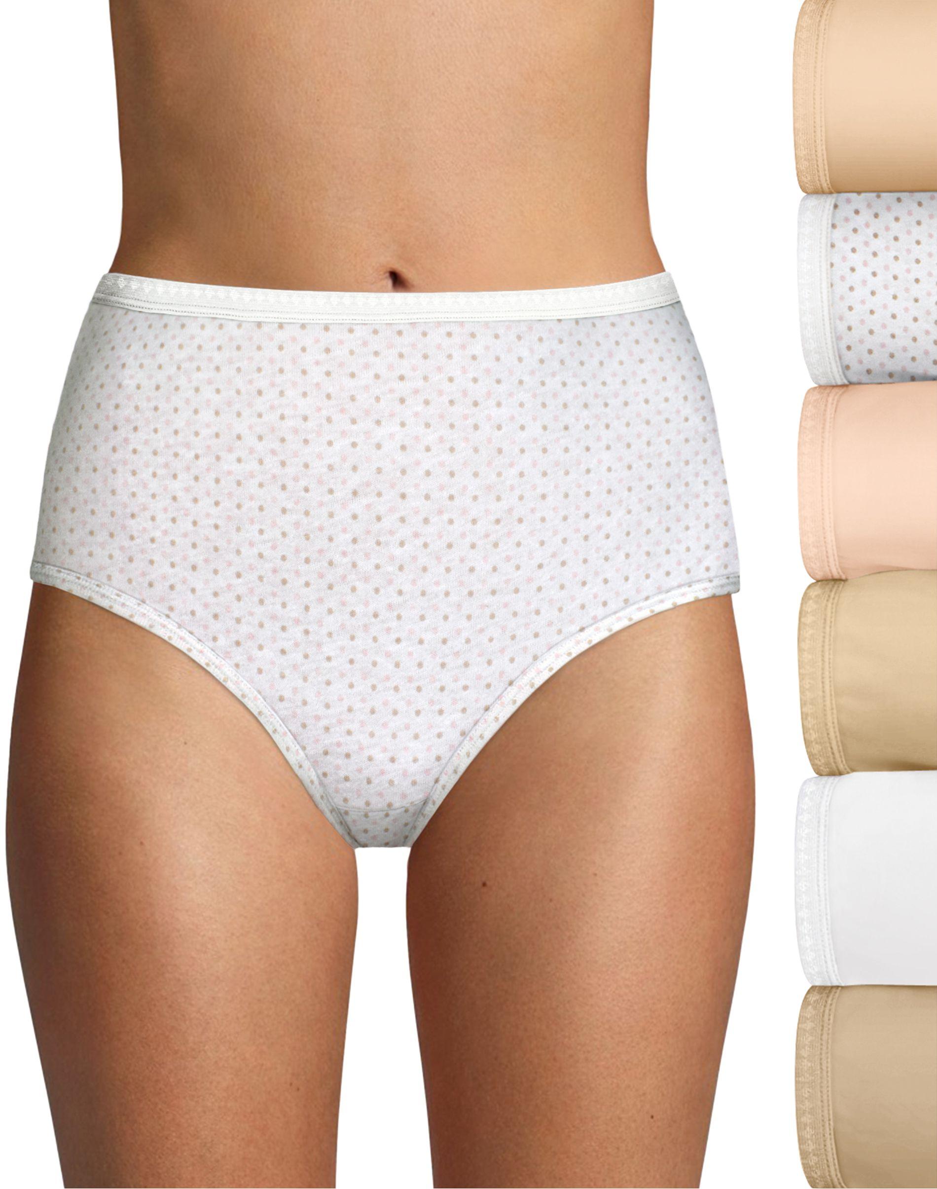 40h6cc - hanes ultimate cotton p6 brief women Hanes
