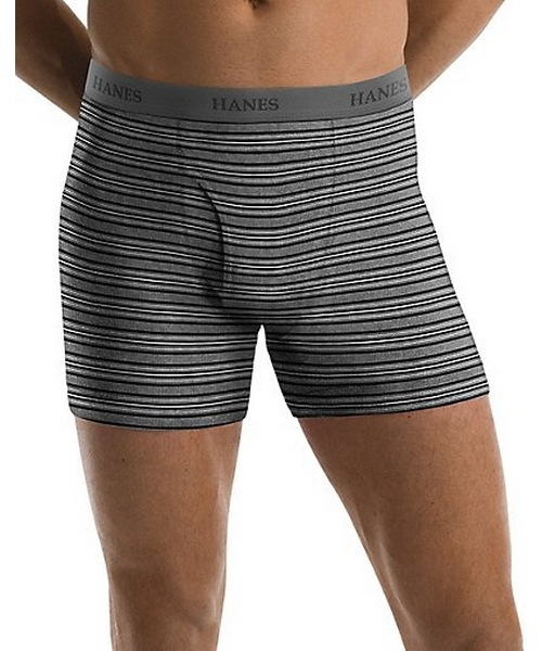 Hanes Men's TAGLESS® Ultimate Fashion Stripe Boxer Briefs with Comfort Flex® Waistband 5-Pack men Hanes