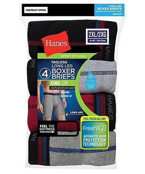 Hanes Men's Cool DRI® Long Leg Boxer Briefs with Comfort Flex® Waistband 4-Pack men Hanes