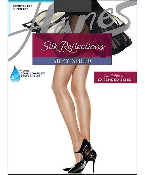 Hanes Silk Reflections Silky Sheer Control Top Sheer Toe 6-Pack women Hanes