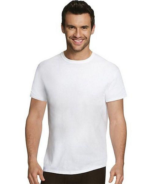 Hanes Ultimate™ Men's Comfort Fit White Crewneck Undershirt 4-Pack men Hanes