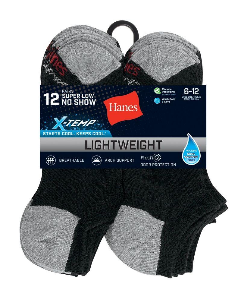 Hanes Men's FreshIQ™ X-Temp® Super Low No Show Socks 12-Pack men Hanes