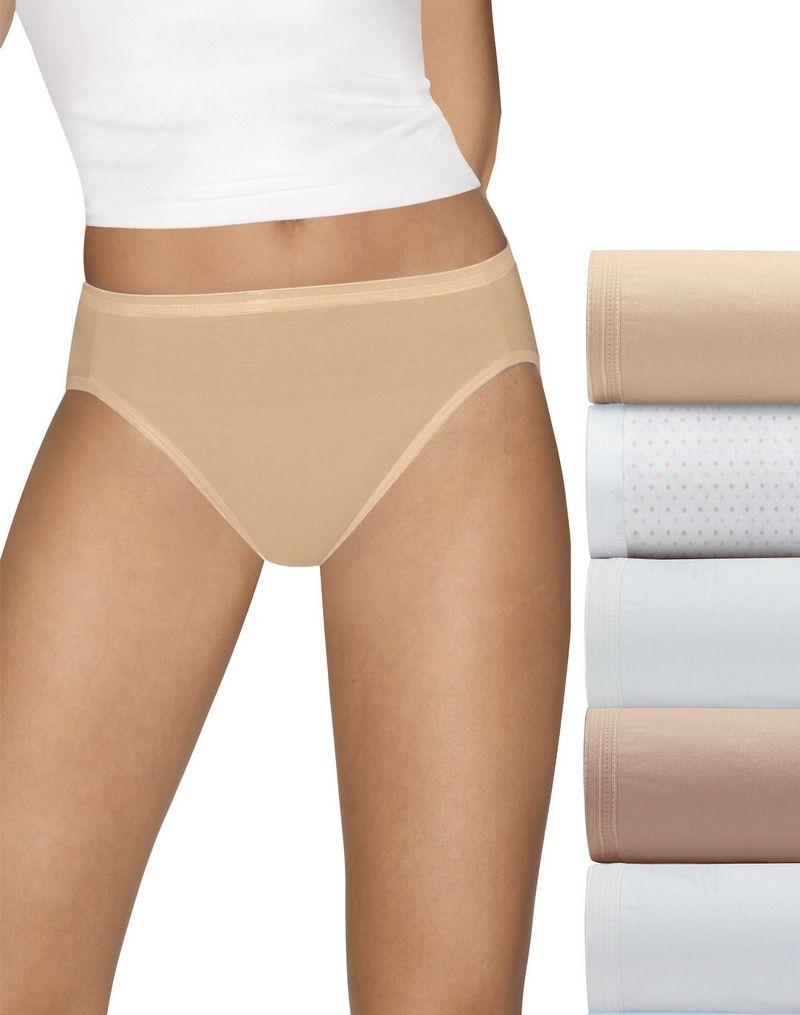 Hanes Ultimate™ Comfort Cotton Hi-Cut Panties 5-Pack women Hanes