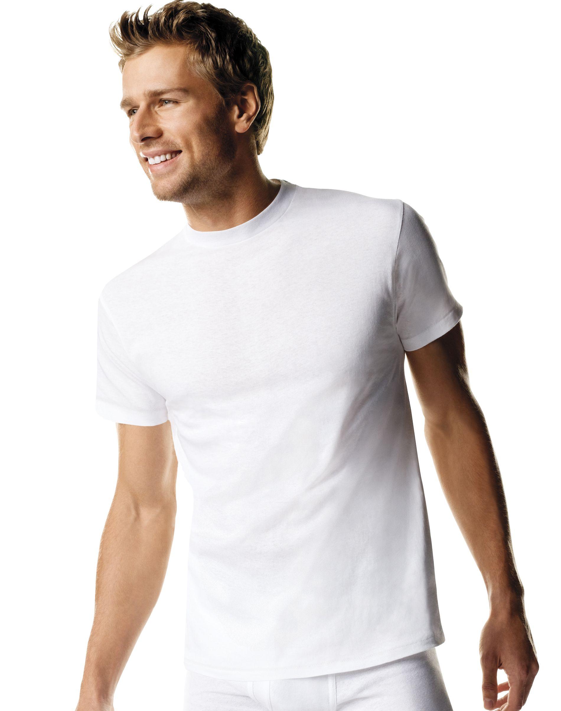 hanes comfortsoft® tagless® men's tall crewneck undershirt lt-3xt 4-pack men Hanes