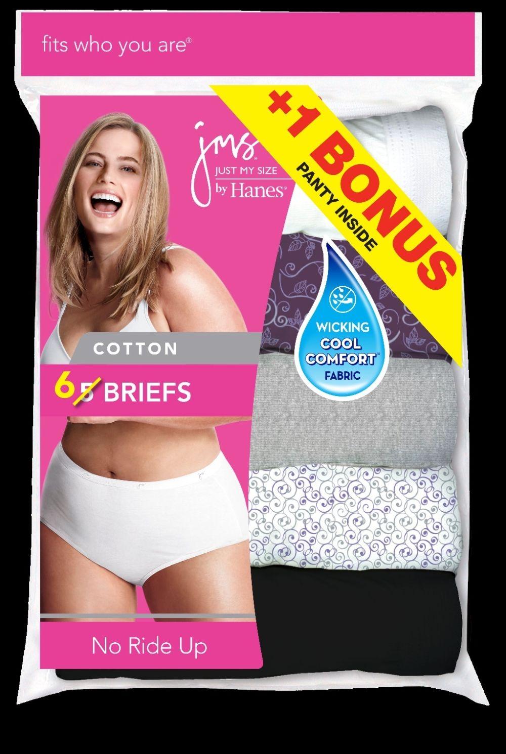 p6 brief - white women Just My Size