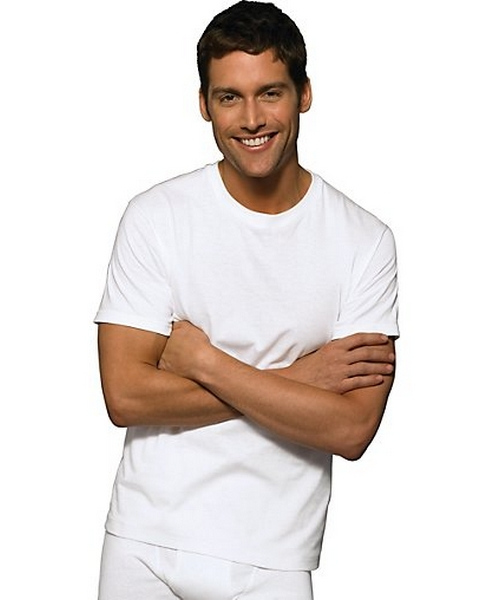 Hanes Classics Men's Tall Man Traditional ComfortSoft® TAGLESS® Crewneck Undershirt 4-Pack men Hanes