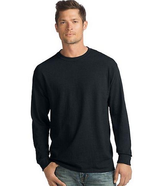 Hanes ComfortSoft® Men's Long-Sleeve T-Shirt 4-Pack men Hanes