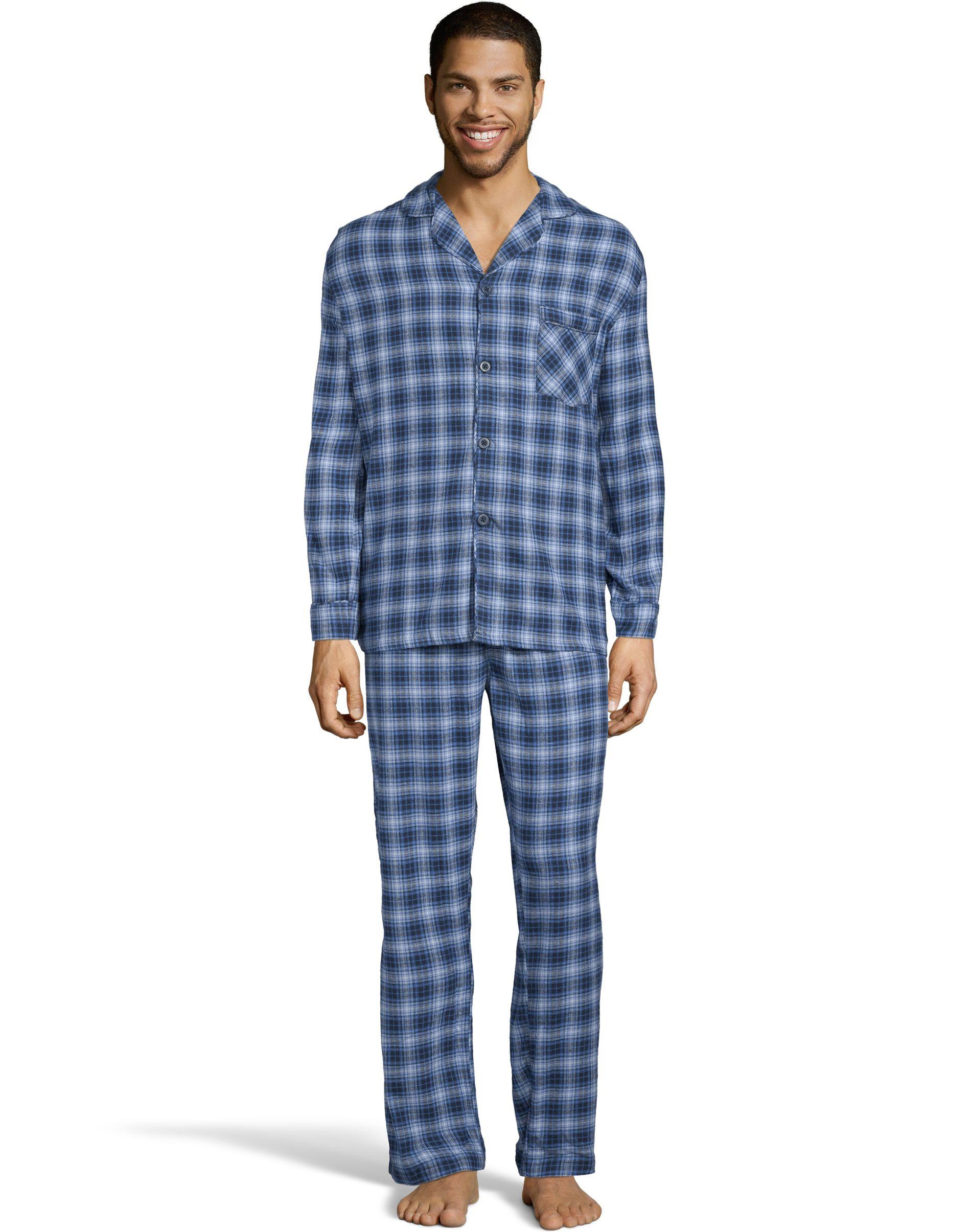 hanes men's flannel pajamas men Hanes