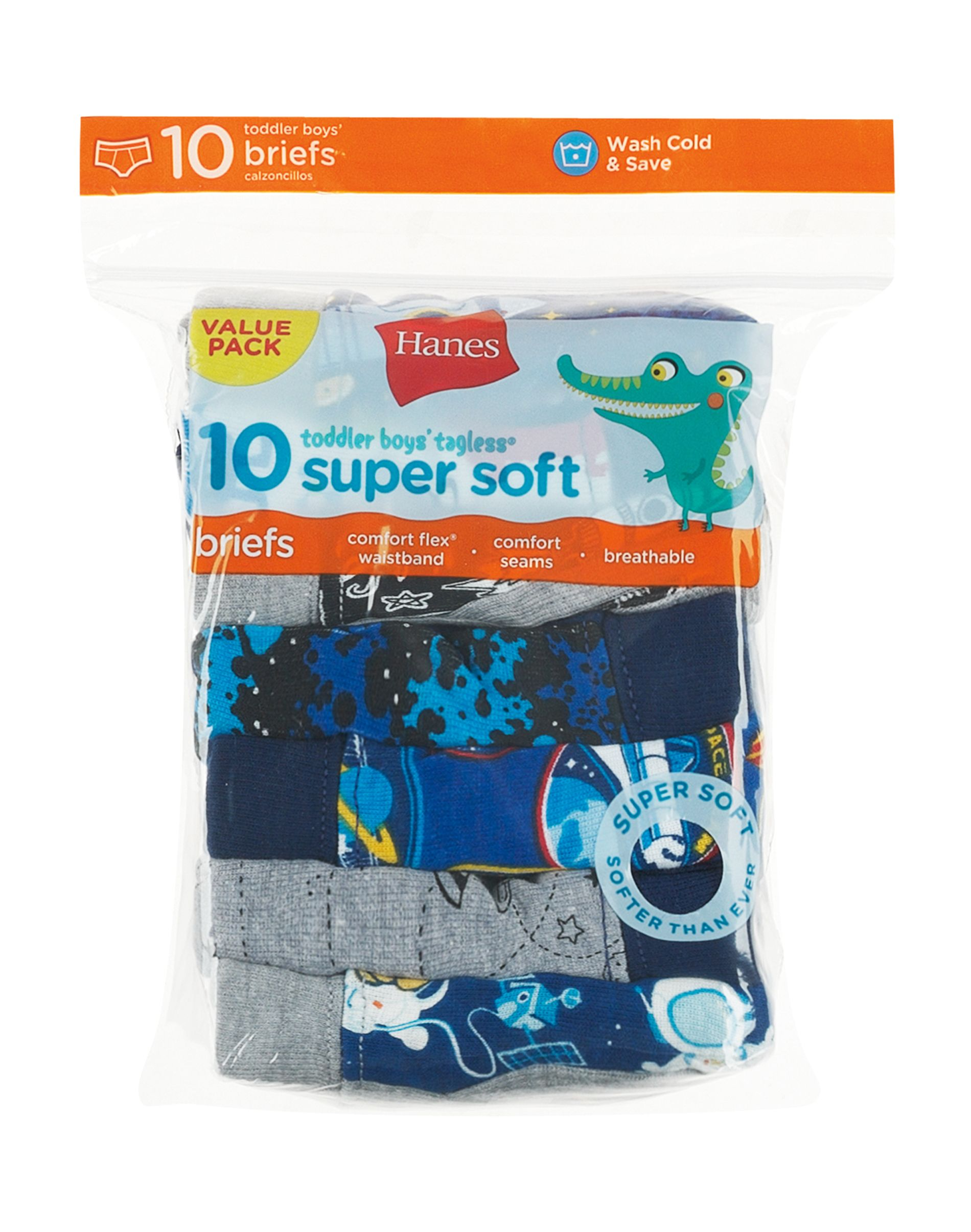 hanes toddler boys' briefs with comfortsoft waistband 10-pack youth Hanes