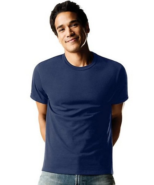 Hanes ComfortSoft® TAGLESS® Men's Dyed Crewneck Undershirt 4-Pack men Hanes