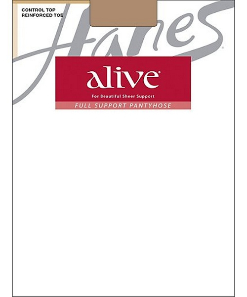 Hanes Alive Control Top Reinforced Toe 6-Pack women Hanes